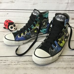 Converse All Star DC Comics Batman Sneakers, Sz 5